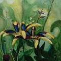 Glowing Flora by Nicolas Bouteneff