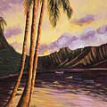 Glowing Kualoa Diptych 1 Of 2 by Patti Bruce - Printscapes