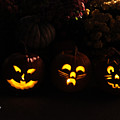 Glowing Pumpkins by Suzanne Gaff