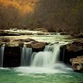 Glowing Waterfalls by Iris Greenwell
