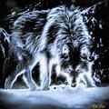 Glowing Wolf In The Gloom by Rikk Flohr