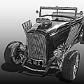 Go Hot Rod In Black And White by Gill Billington