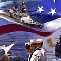 Go Navy Collage by David  Starnes