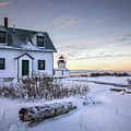 Goat Island Light In Winter by Colin Chase