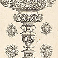 Goblet, Rim Decorated With Masque And Bouquet Of Fruit by Georg Wechter I