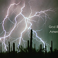 God Bless America Color Lightning Storm In The Usa Desert by James BO  Insogna