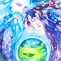 God, Goddess, Earth Ripple Effect by Carlin Blahnik CarlinArtWatercolor