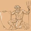 God Neptune Or Poseidon by Aloysius Patrimonio