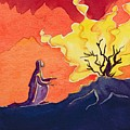 God Speaks To Moses From The Burning Bush by Elizabeth Wang