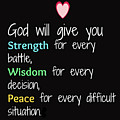 God Will Give You Strength T-shirt by Herb Strobino