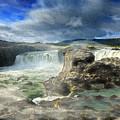 Godafoss Waterfall Iceland by Elizabetha Fox
