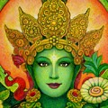 Goddess Green Tara's Face by Sue Halstenberg