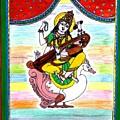 Goddess Saraswati by Vertikaa Singh