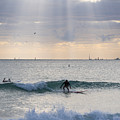 Going Surfing On Miami Beach Florida Sunrays Wave by Toby McGuire