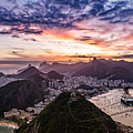 Going Up The Cable Car In Rio De Janeiro by Desiree Silva