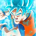 Goku In Dragon Ball Super  by Rose Lynn