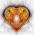 Gold And Sapphire Heart  by Sandra Bauser Digital Art
