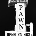Gold And Silver Pawn Sign by Anthony Sacco