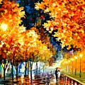Gold Boulevard by Leonid Afremov