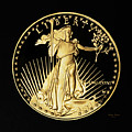 Gold Coin Front by Phyllis Denton