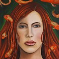Gold Fish 9 by Leah Saulnier The Painting Maniac