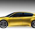 Gold Lexus Lf-ch Hybrid Car by Oleksiy Maksymenko