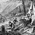 Gold Mining, 1853 by Granger