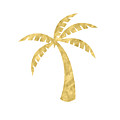 Gold Palm Tree- Art by Linda Woods by Linda Woods