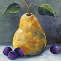 Gold Pear With Grapes II  by Torrie Smiley