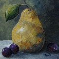 Gold Pear With Grapes  by Torrie Smiley