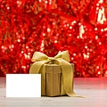 Gold Present With Place Card  by U Schade