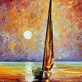 Gold Sail by Leonid Afremov