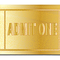 Gold Ticket Admit One by Bigalbaloo Stock