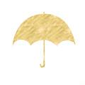 Gold Umbrella- Art By Linda Woods by Linda Woods
