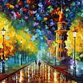 Gold Winter by Leonid Afremov