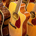 Golden Acoustic Guitars