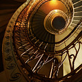 Golden And Brown Spiral Stairs by Jaroslaw Blaminsky