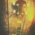 Golden Banjo Neck In Retro Folk Style by Jorgo Photography - Wall Art Gallery