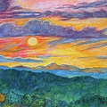 Golden Blue Ridge Sunset by Kendall Kessler