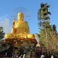 Golden Buddha In Vietnam Dalat by Mariia Kilina