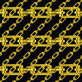 Golden Chains With Black Background Seamless Texture by Miroslav Nemecek