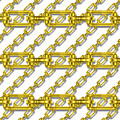 Golden Chains With White Background Seamless Texture by Miroslav Nemecek