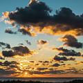 Golden Cloud Sunrise Delray Beach Florida by Lawrence S Richardson Jr