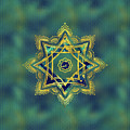 Golden Decorative Star Of Lakshmi - Ashthalakshmi  by Creativemotions