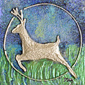 Golden Deer by Monica Castro
