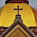 Golden Dome Notre Dame by David Arment