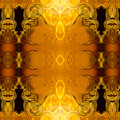 Golden Dreams Abstract Organic Bliss Art By Omaste Witkowski by Omaste Witkowski