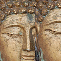Golden Faces Of Buddha by Linda Prewer