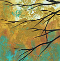 Golden Fascination 1 by Megan Duncanson