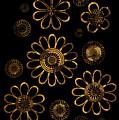 Golden Flowers by Frank Tschakert